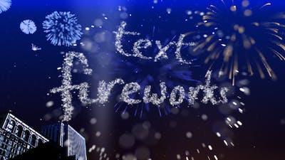 Text Fireworks