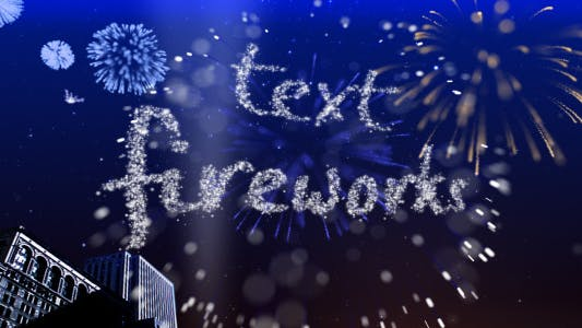 Thumbnail for Text Fireworks