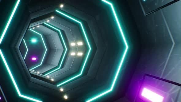 4K Cyber Space Tunnel Loop 01