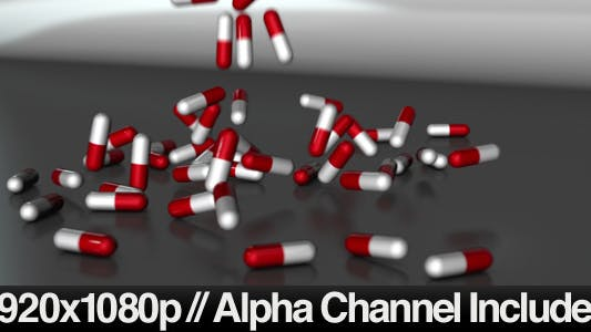 Thumbnail for Medicine pills falling down onto a table