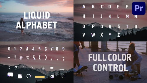 Liquid Alphabet   Premiere Pro MOGRT