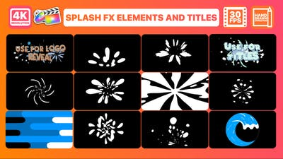 Splash FX Elements And Titles | FCPX