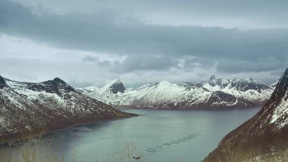 Thumbnail for Winter Fjord and Heavy Clouds