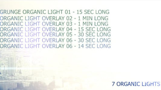 Organic Light Leaks - pack of 7 awesome lights