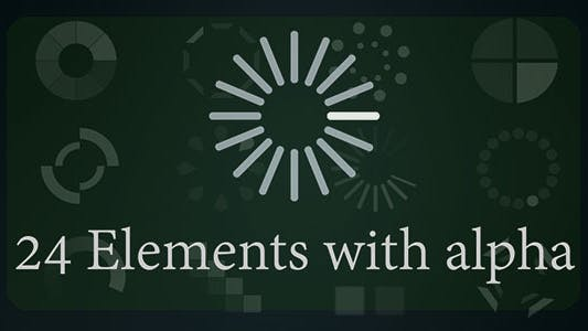 Thumbnail for Loading Animation Elements 24 Pack (Loop + Alpha)