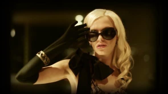 style blond woman luxury fashion
