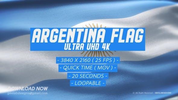 Thumbnail for Argentina Flag - Ultra UHD 4K Loopable