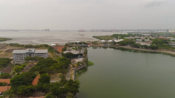 Cargo and Passenger Seaport in Surabaya Java Indonesia