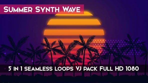 Summer Synth Wave VJ Loops