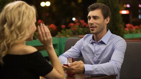 Thumbnail for Lady Accepting Proposal to Marry Beloved Man, Romantic Date, Important Decision