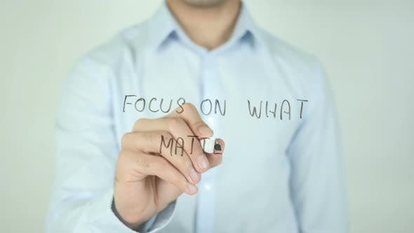 Thumbnail for Focus on What Matters�, Writing On Screen