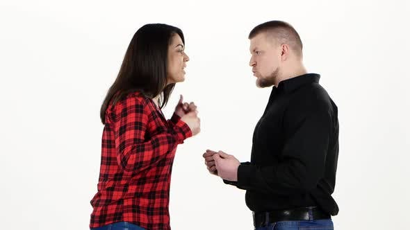 Thumbnail for Two Adults Find Out the Relationship and Turning. White