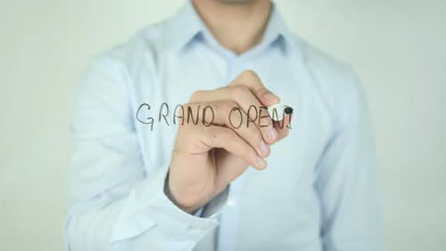 Grand Opening, Writing On Screen