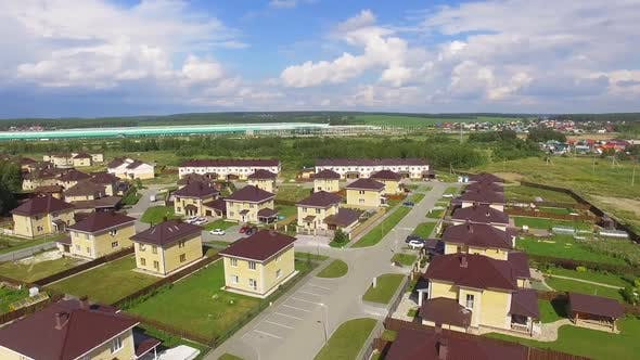 Aerial view of Calm Luxury Residential Area. 06