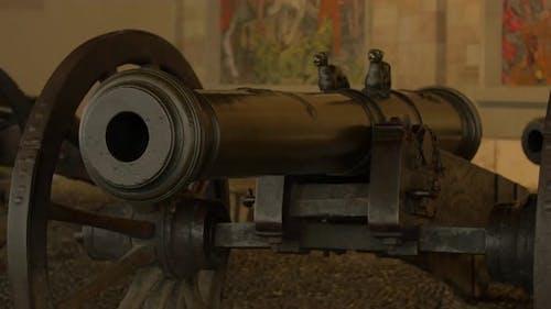 Nahaufnahme einer alten Kanone