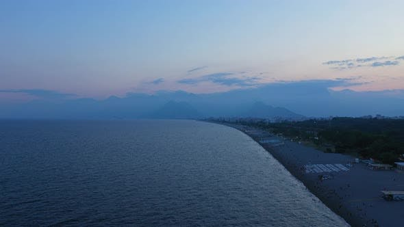Cover Image for Antalya City Shore At Sunset