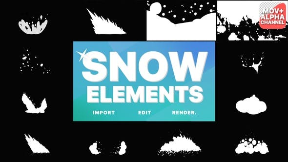 Snowy Elements   Motion Graphics