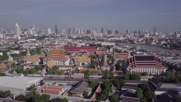 Thumbnail for Temples Aerial View in Bangkok in Thailand