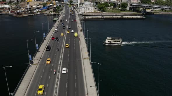 Cover Image for Istanbul Bosphorus And Golden Horn Bridge Aerial View