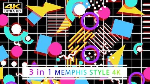 90's Memphis Style 4K (Black)