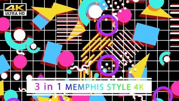 Thumbnail for 90's Memphis Style 4K (Black)