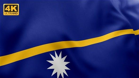 Thumbnail for Flag of Nauru - 4K