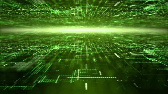 Thumbnail for Futuristic Digital Abstract Matrix Particles Grid 09