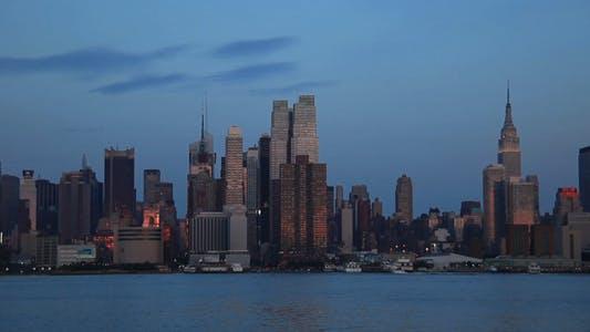 Thumbnail for New York City skyline Sundown Full HD