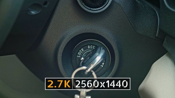 Thumbnail for Starting Car Engine Ignition Key