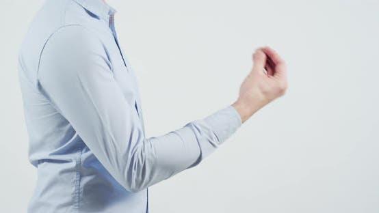 Demanding explanations gesture