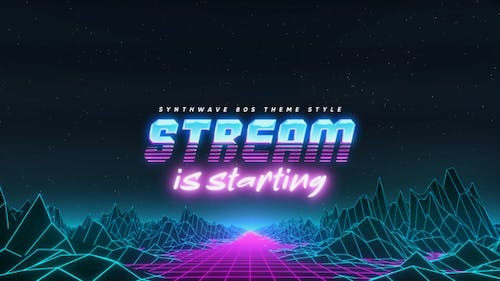 Synthwave 80s Streamer Package