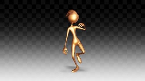 3D Character Man Gold Dance
