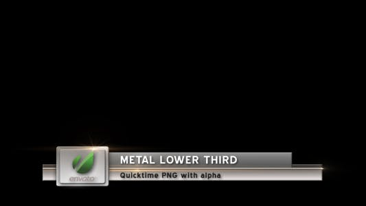 Thumbnail for Metal Lower Third