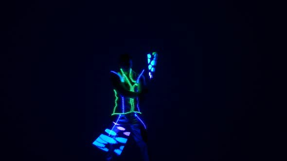 Thumbnail for Light Show. Abstract Colorful Background Made with Light Painting