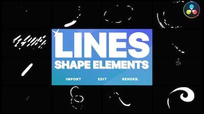 Shape Lines | DaVinci Resolve