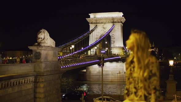 Thumbnail for Széchenyi Chain Bridge at night