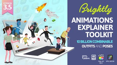 Brightly V3.5   Animations Explainer Toolkit - Final Cut Pro X & Apple Motion