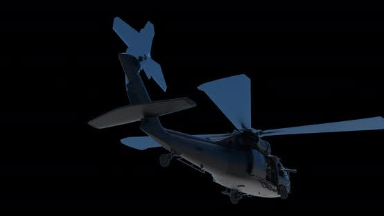 Thumbnail for Military Helicopter UH-60 Black Hawk Realistic