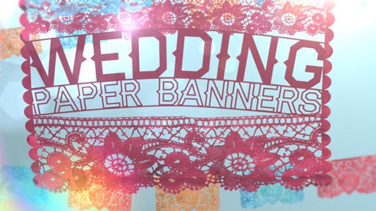 Thumbnail for Wedding Paper Banners