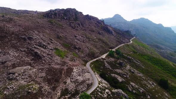 Curved Road on Mountains