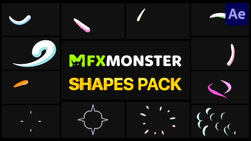 Hand-Drawn Shapes Pack   After Effects
