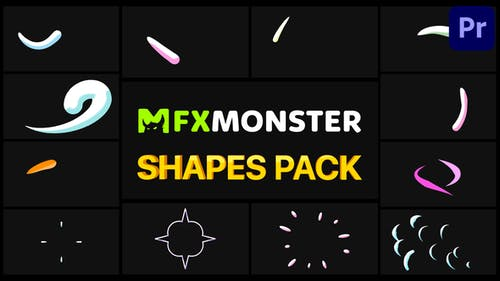 Hand-Drawn Shapes Pack   Premiere Pro MOGRT