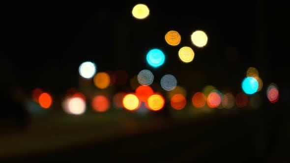 Thumbnail for Traffic Bokeh At Night In City
