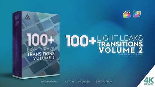 4K Light Leaks Transitions Vol 2 | For FCPX