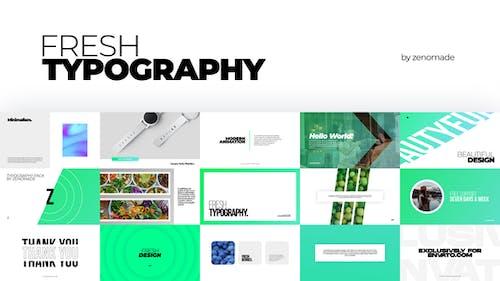 Frische Typografie