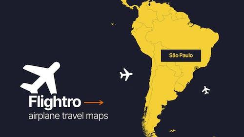 Flightro - Airplane Travel Maps