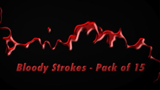 Thumbnail for Bloody Strokes - Pack of 15