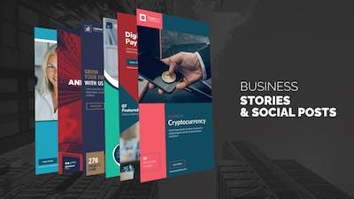 Business Stories & Social Post B75