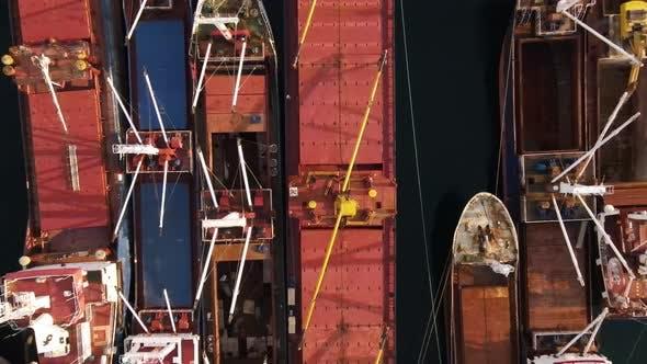 Thumbnail for Fisherman Ships at Harbor Istanbul