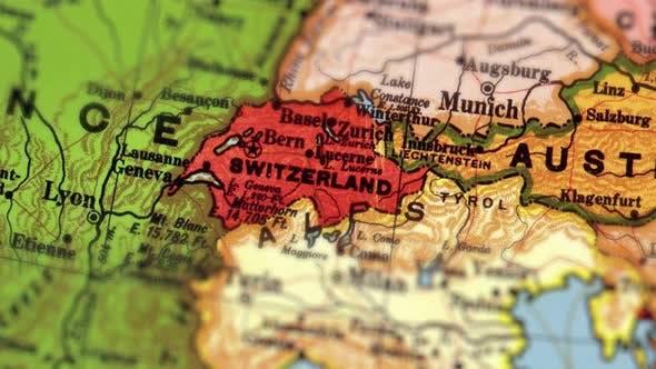 Thumbnail for Switzerland On World Map